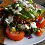 Recipe: Raw Taco Salad with Cilantro Lime Dressing