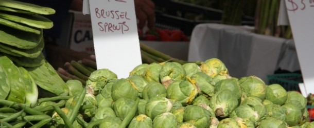 Crop Brussels Sprouts