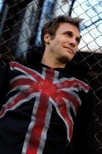 (C) Lois Eastlund Designs Men's hand painted Union Jack long sleeved t shirt