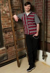 © Lois Eastlund Designs Menswear hand painted button down shirt