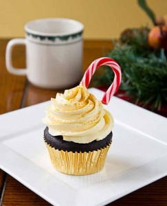Chocolate Nog Cupcakes