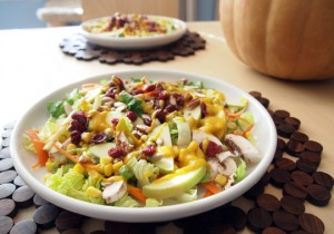 Harvest Salad with Pumpkin Vinaigrette