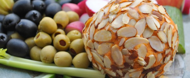 Recipe: Kick Ace Extra Sharp Raw Vegan Holiday Cheddar Cheese Ball