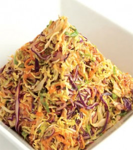 Shaved Brussles Sprout Slaw