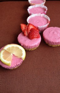 Mini Strawberry Lemonade Tofu Mousse, Vegan and Gluten-Free