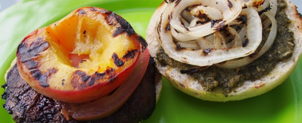 Chic Vegan Recipe: Grilled Portobello Peach Sandwiches - Chic Vegan