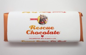 This yummy chocolate bar donates it's proceeds to animal rescue!