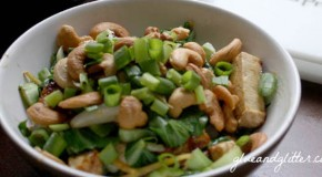 Recipe: Cashew Tofu with Baby Bok Choy