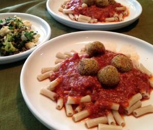 pasta and neatballs