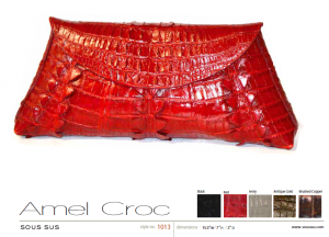 Amel Croc in red