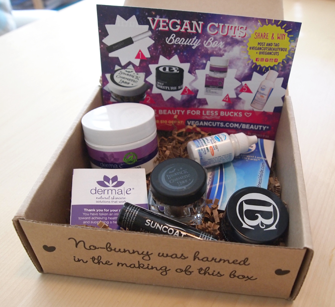 product review the september vegan cuts beauty box chic vegan. Black Bedroom Furniture Sets. Home Design Ideas