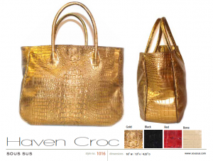 Haven Croc in gold