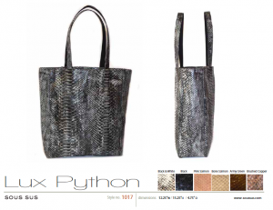 Lux Python in gray.  Mine is olive green.  I LOVE this bag!!