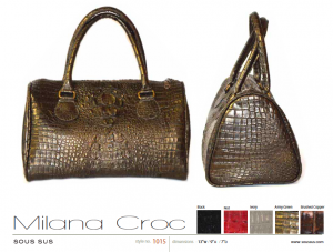 Milana Croc in Army Green