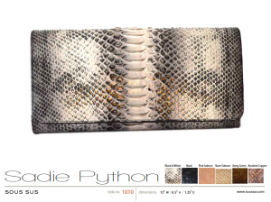 Sadie Python clutch in black & white