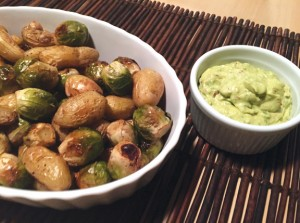 Roasted Potatoes and Sprouts