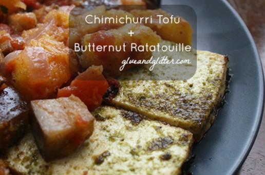 Recipe: Butternut Squash Ratatouille with Chimichurri Baked Tofu