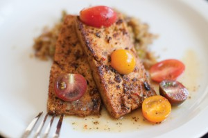 Cajun tofu and dirty quinoa