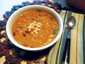 Curried Pumpkin Peanut Soup