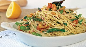 Recipe: Vegan Scampi Pasta with Asparagus and Walnuts