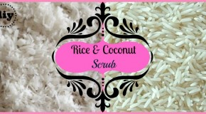DIY Rice and Coconut Face Scrub