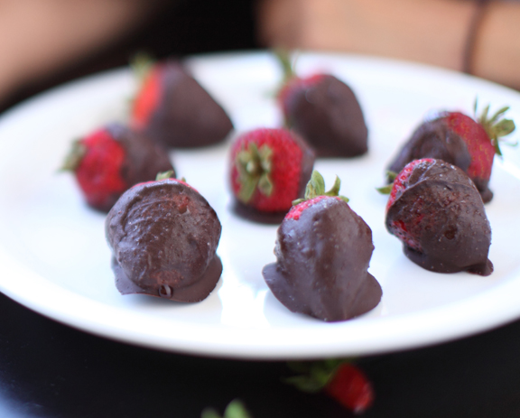 Chocolate Covered Strawberries Close Up