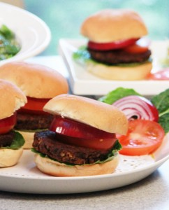 Mushroom-Nut Burgers from Jazzy Vegetarian Laura Theodore - Vegan Memorial Day Recipes