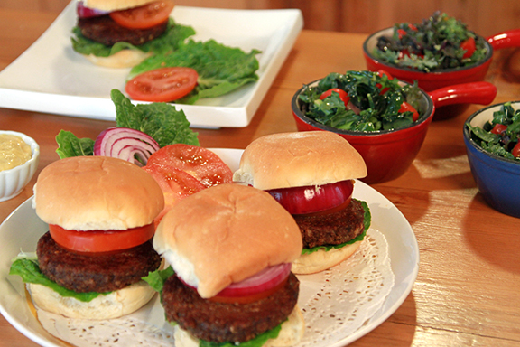 Mushroom-Nut Burgers from Jazzy Vegetarian Laura Theodore – Vegan Memorial Day Recipes