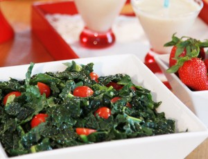 Kale and Tomato Salad from Jazzy Vegetarian Laura Theodore - Vegan Memorial Day Recipes