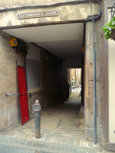 One of the famous closes of old-town Edinburgh. How many passersby actually pause to reflect upon the name?