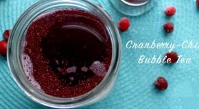Chia-Cranberry Bubble Tea