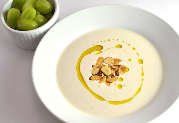 Chilled Almond Soup with Garlic