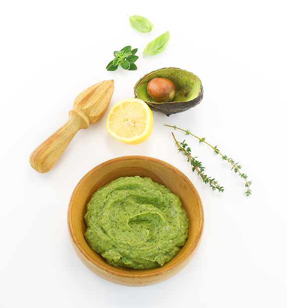 Easy Avocado Lemon Basil Pesto from The Easy Vegan Cookbook by Kathy Hester