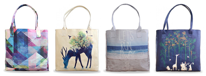 Create and Case Vegan Tote Bags
