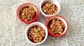 No-Bake Vegan Peach Raspberry Crumble