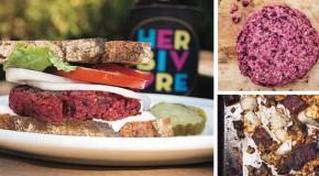 Roasted Beet Burgers from Eat Like You Give a Damn by Michelle Schwegmann & Josh Hooten