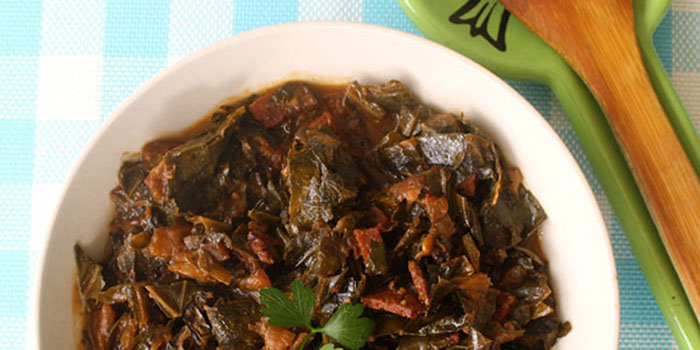 how to cook collards in a crock pot