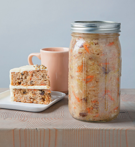 Carrot Cake Kraut from Ferment Your Vegetables by Amanda Feifer