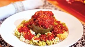 Laura Theodore's Vegan Stuffed Green Peppers