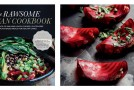 Beet Ravioli with Almond Thyme Pâté & Basil from The Rawsome Vegan Cookbook by Emily von Euw