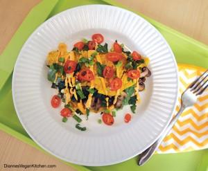 Spinach-Mushroom Vegan Omelet