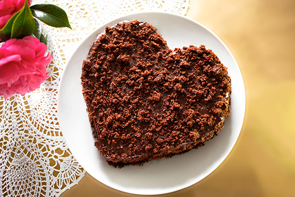 Fran Costigan's Heart-Shaped Vegan Chocolate Cake to Live For. Photo by Hannah Kaminsky