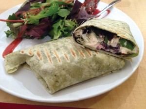10 Tips for Vegan Dining in Restaurants – Manhattan Juice Hummus Wrap