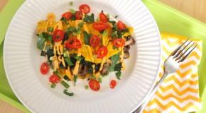 Spinach-Mushroom Chickpea Flour Vegan Omelet