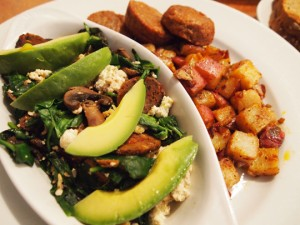 10 Tips for Vegan Dining in Restaurants – Popeye Tofu Scramble