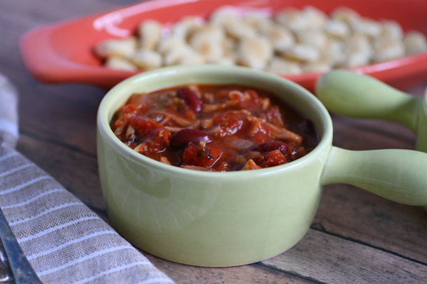 Roasted Tomato and Jackfruit Chili