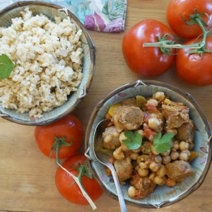 Laura Theodore's Vegan Garbanzo Stew with Spicy Rice
