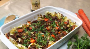 Stout, Seitan and Cabbage Casserole for Saint Patrick's Day