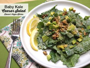 Baby Kale Caesar Salad from Chickpea Flour Does It All