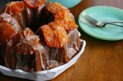 Vegan Candied Grapefruit Bundt Cake
